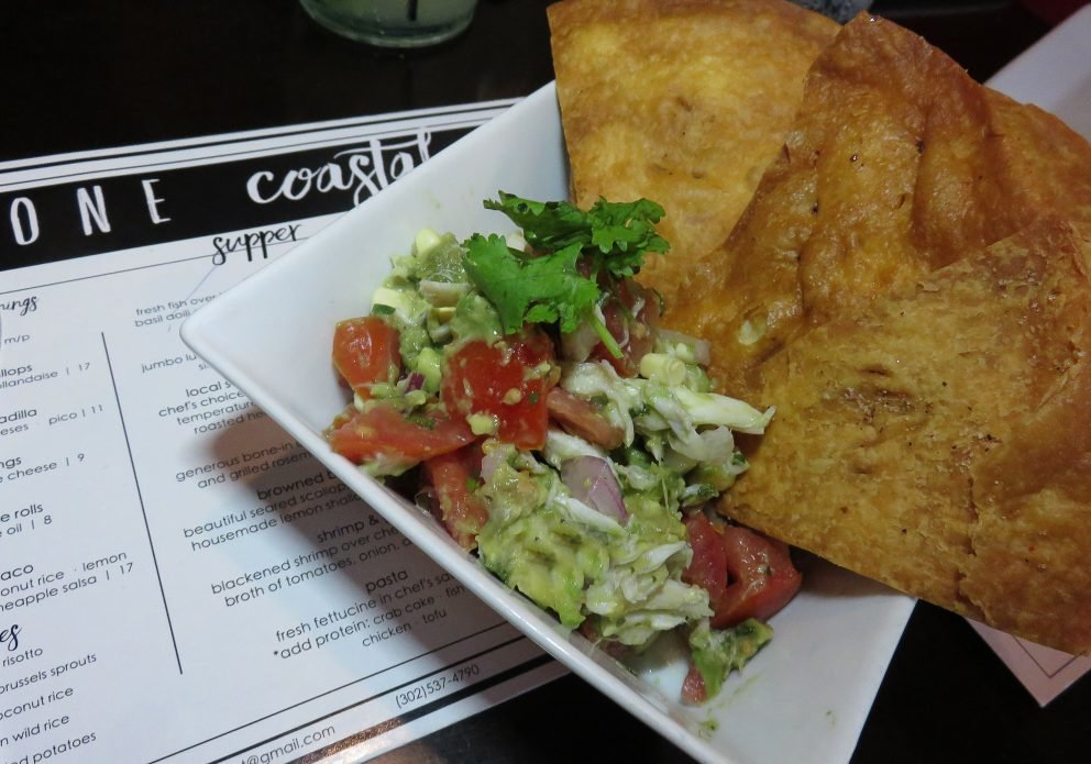 One Coastal guac salsa w menucrenh