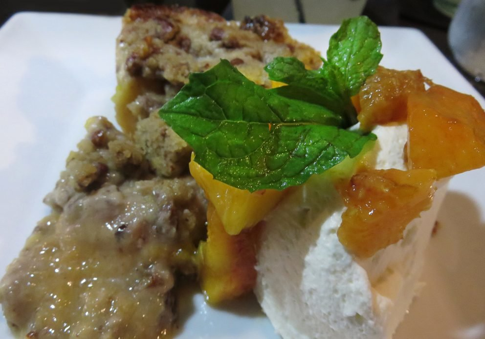 One Coastal peach pie with crispycrenh