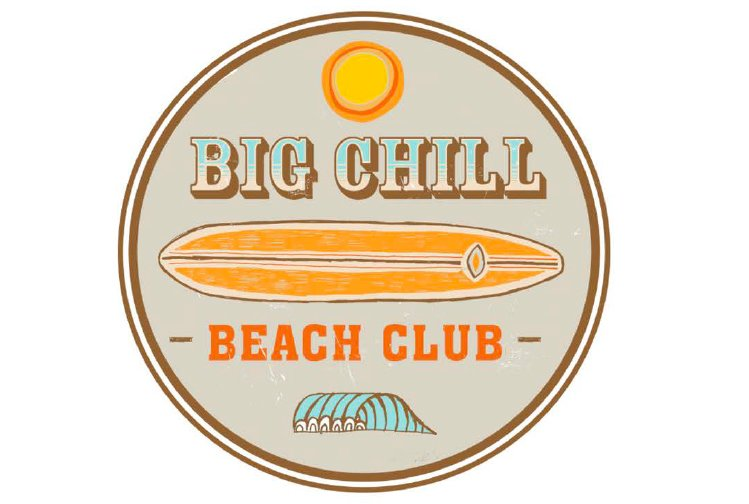 Big Chill Beach Club Logo   Surfboard Patchcrenh