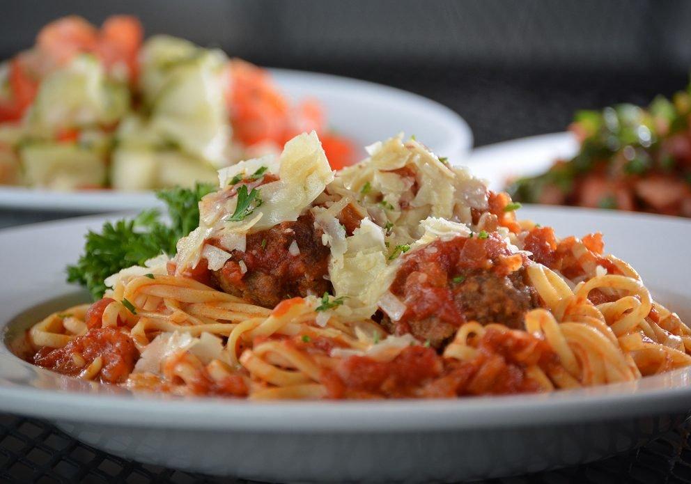 SpagMballs salads TRIOsized