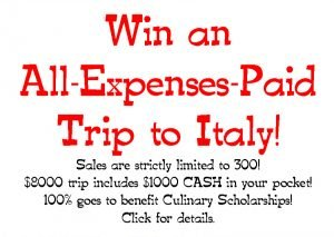 Win an $8000 Trip to Italy!