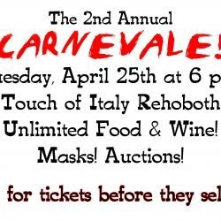 CARNEVALE in April!  4/25