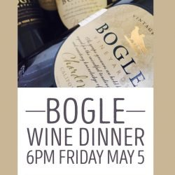 Sip Bogle and enjoy the music