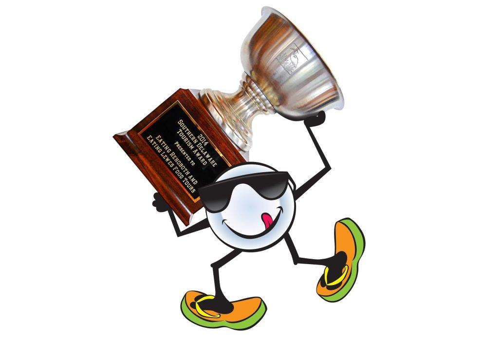 PLATO AWARD C carrying trophycrenh