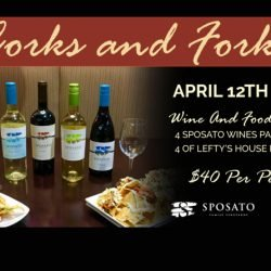 Corks! Forks! Lefty's 4/12