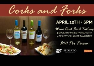 Corks! Forks! Lefty's 4/12 | View More