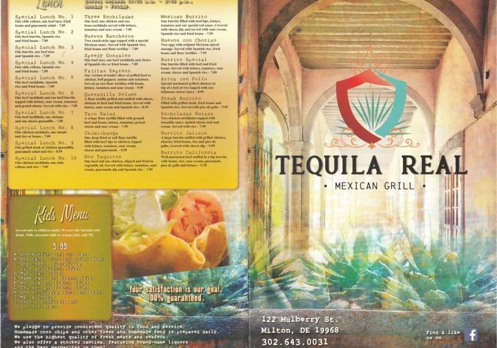 Tequila Real menu 1