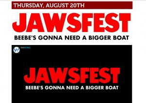 JAWSFEST Thurs. 8/20 | View More